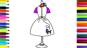 coloring beautiful design dresses drawing pages to color for