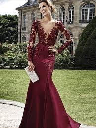 evening dresses burgundy sheath v neck floor length elastic prom dress evening