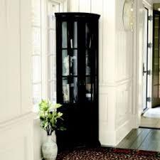 shining black corner cabinet charming decoration tall corner hutch