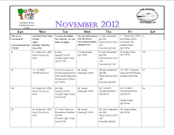 honker monthly activities november 2012