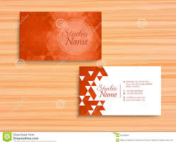 Orange Colors Names Stylish Horizontal Business Card Or Visiting Card Stock