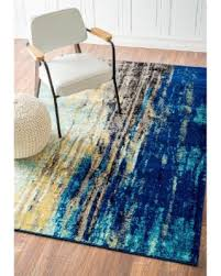 Modern Blue Rug Fall Into These Autumn Savings Nuloom Modern Abstract Vintage
