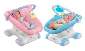 fisher price cruisin motion soother blue car portable baby bouncer