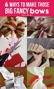 big christmas bows how to make christmas bows