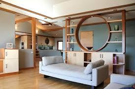raumteiler wohnzimmer moderne ideen zur optischen trennung durch regal raumteiler