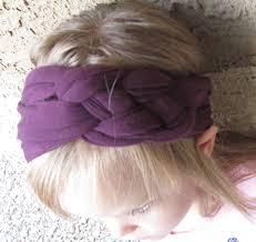 braided headbands jersey knit braided headbands