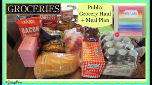 publix grocery haul meal plan for the week thanksgiving week