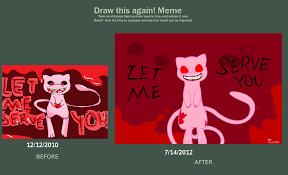Creepypasta Memes - draw this again meme creepypasta mew by eeveepikachuchan on deviantart