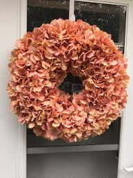 hydrangea wreath coral salmon hydrangea wreath wreaths by julie