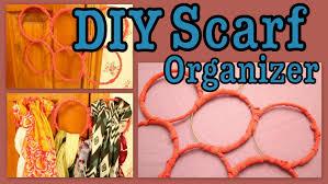 diy hanging scarf organizer youtube