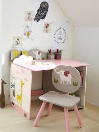 vert baudet bureau chaise de bureau fille thème jungle en fête gris imprime vertbaudet