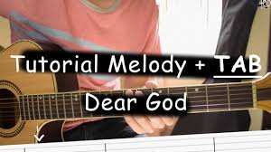 tutorial gitar dear god belajar melody dear god avenged sevenfold youtube