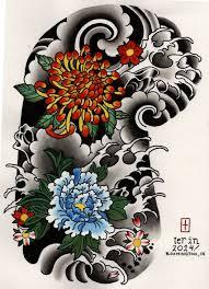 japanese floral half sleeve design ญ ป น