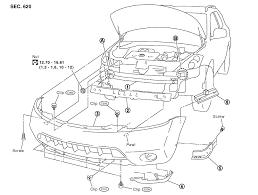 2003 2007 nissan murano front bumper removal procedure
