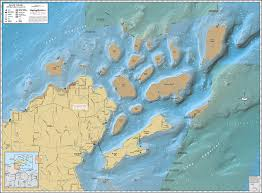 islands map apostle islands wall map