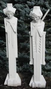 this full sized concrete reion of the frank lloyd wright midway gardens sprite is produced by nichols bros stoneworks the authorized manufacturer