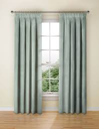 How To Fit Pencil Pleat Curtains Chenille Damask Pencil Pleat Curtain M U0026s