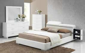 acme 20414ck manjot 3pcs white pu cal king storage bedroom set