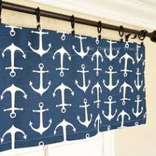 Nautical Valance Curtains Blue Valance Navy Window Valance Nautical Valance Modern