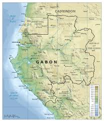 Map Of Africa Physical by Large Detailed Physical Map Of Gabon With Other Marks Gabon