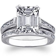 emerald cut wedding set emerald cut page 1 of 2 wedding products from