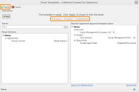 using salesforce email templates in outlook linkpoint360