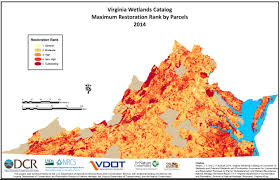 Virginia Area Code Map by Virginia Wetlands Catalog