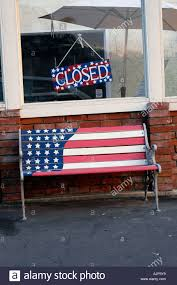 How To Paint American Flag A Wooden Bench With An American Flag Painted On It Stock Photo