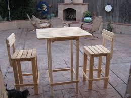 Diy Outdoor Bar Table Diy Plans Make Bar Table Stool Set Wingstoshop Tierra Este 9427