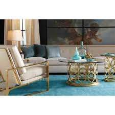 round gold glass coffee table antonia hollywood regency round gold metal coffee table kathy kuo home