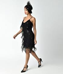 dress photo unique vintage 1920s style black cecile tiered fringe flapper dress