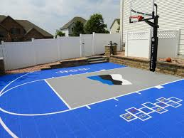 backyard basketball court flooring snapsports outdoor basketball courts game courts millz house