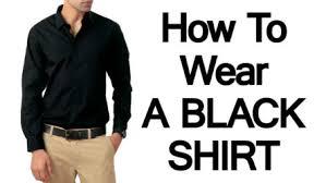 men u0027s black shirts how to wear a black shirt