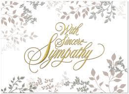condolences greeting card 153u x sympathy leaves business sympathy cards posty cards inc