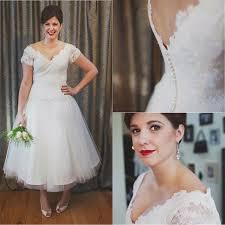 50 S Wedding Dresses Aliexpress Com Buy Vintage Ankle Length 50s Wedding Dresses