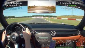 mazda germany two fast laps with open mazda mx5 miata stock on spreewaldring