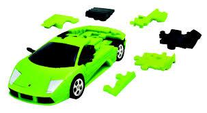 Lamborghini Murcielago Green - eureka 3d puzzle lamborghini murciélago green