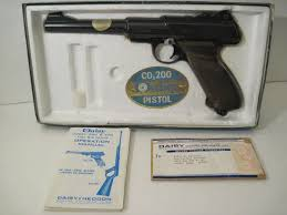 vtg daisy co2 200 semi automatic b b gas nice pistol bad box w