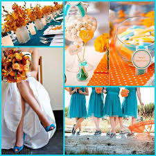Teal Wedding Wedding Motif Orange And Teal Marché Wedding Philippines