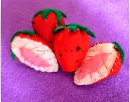 cara membuat gantungan kunci dari kain flanel bentuk kue tutorial membuat strawberry dari kain flanel ladies