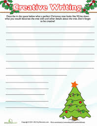 christmas tree writing prompt worksheet education com