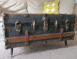 vintage steamer trunk coffee table home design and decor antique