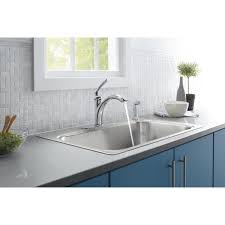 kohler linwood single handle kitchen faucet with side sprayer