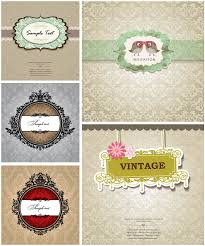 wedding invitations vector baroque vintage wedding invitations vector free stock vector
