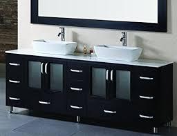 contemporary vessel sink vanity design element stanton double vessel sink vanity set with espresso