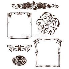 Art Deco Design Elements Art Nouveau Design Elements Stock Images Image 22884474