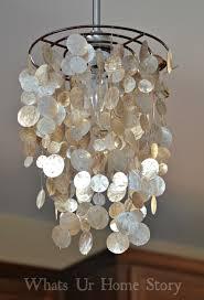 interior silver iron capiz shell chandelier for your house decor idea
