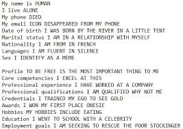 Funny Email Addresses On Resumes Funny Resume Made From Google Autocomplete Now Try Your Own
