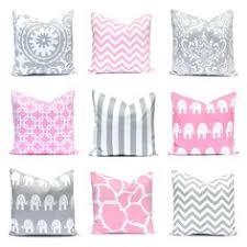 Nursery Decorative Pillows Pink Nursery Wreath Stripe Baby Birth Stats Throw Pillow