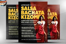 latin dance night flyer template flyer templates creative market
